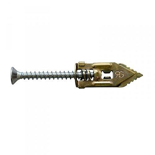 Chevilles - 100 chevilles métalliques GOLD à clouer + vis 4x40mm RAM