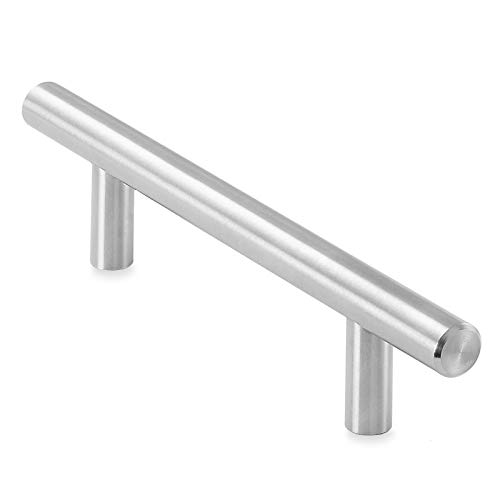 Cauldham Solid Stainless Steel Euro Style Cabinet Pull Handle Brushed Nickel Design 3-3/4