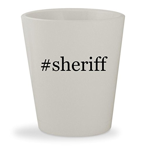 Price comparison product image #sheriff - White Hashtag Ceramic 1.5oz Shot Glass