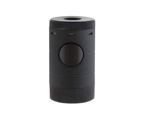 Xikar Volta Quad Flame Tabletop Cigar Lighter in an Attractive Gift Box Warrant (Black)