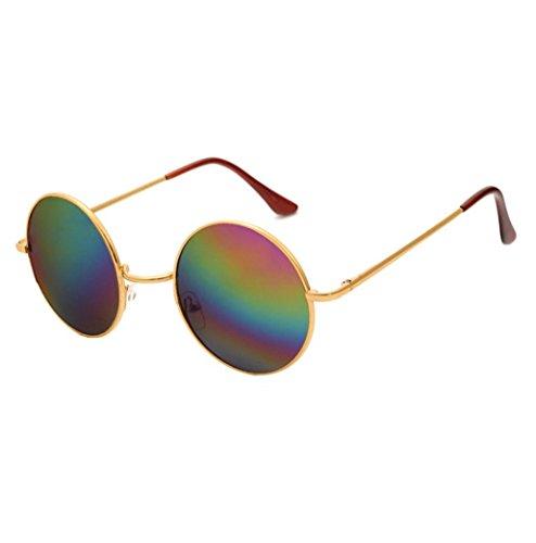 Men Women Fashion Sunglasses, Lotus.flower Hippie Circle Lens Mirrored Flat Lenses Sunglasses Eyewear UV400 Outdoor Sports Glasses - Sunglasses Lotus