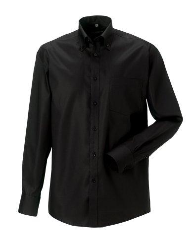 Russell Sammlung Langarm ultimative bügelfreie Hemd Schwarz 15.5