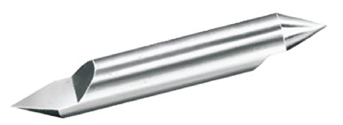 Micro 100, RTC-187-2, Right Hand Cut, Double Ended, Split-End, 30° Included Angle Engraving Tool, 3/8'' Split Length, .004'' Offset Point, 3/16'' Shank Diameter, 2'' Overall Length, Solid Carbide Tool