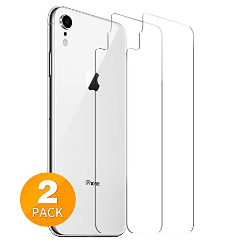 Tensea Back Screen Protector for Apple iPhone XR 6.1 inch Back Tempered Glass Firm, Anti-Scratch, Anti-Fingerprint, Case Friendly, Ultra Thin, HD Clear, 2 Pack