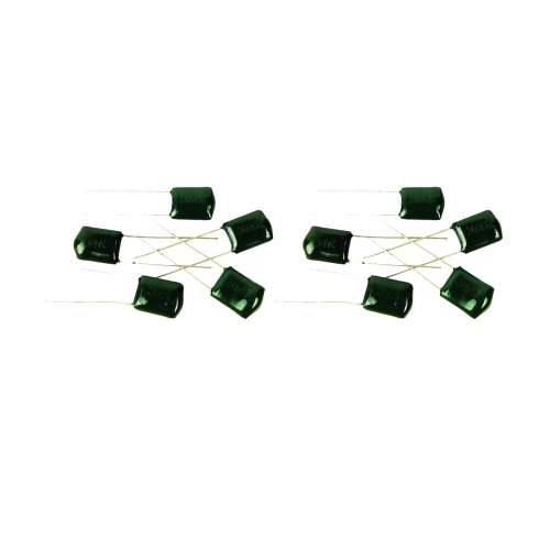 Musiclily Pickup Tone Polyester Film Capacitors Or Amplifier 2A683J 100VDC 0.068uF, Green (Pack of 10)