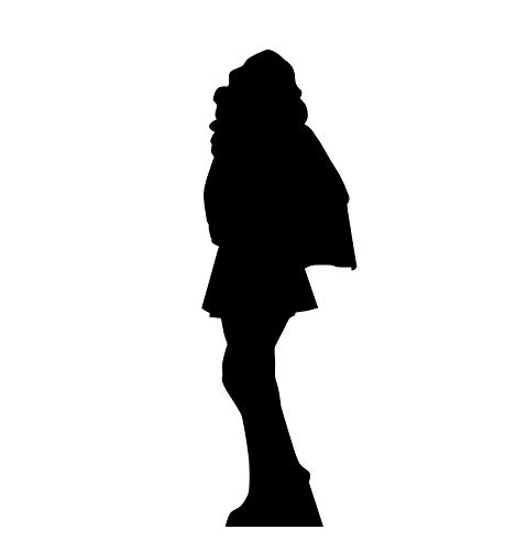 Advanced Graphics Superhero Girl Silhouette Life Size Cardboard