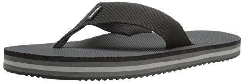 Teva Men's Deckers Flip Flop, Black, 8 M US