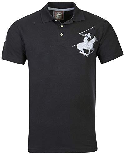 lub Men\'s Pique Polo Super Horse Logo, Black, Small' (Club Pique Polo Shirt)