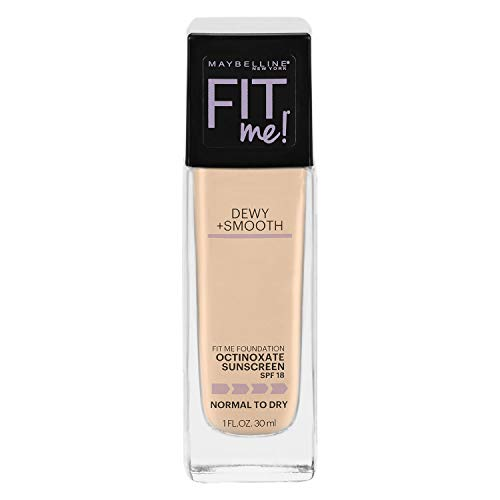 Maybelline New York Fit Me Dewy + Smooth Foundation, Classic Ivory, 1 fl. oz. (Packaging May Vary)