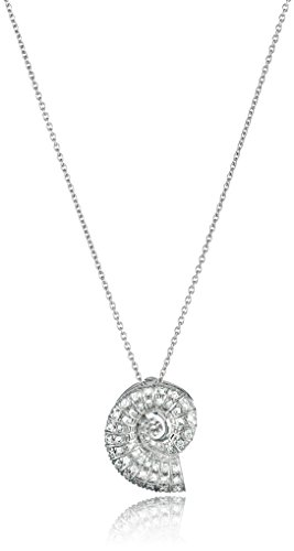 Roberto Coin 18K White Diamond Accent Nautilus Shell Tiny Treasure Necklace (Necklace / Diamond 18k Coin Roberto)