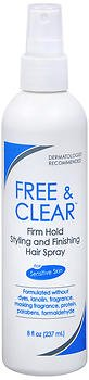 Free & Clear Styling & Finishing Hair Spray Firm Hold 8 oz (Pack of 2)