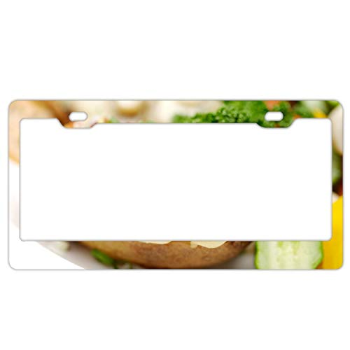 Graphics and More Personalized Sandwich Onions Cucumber Snack on White License Plate Frame]()
