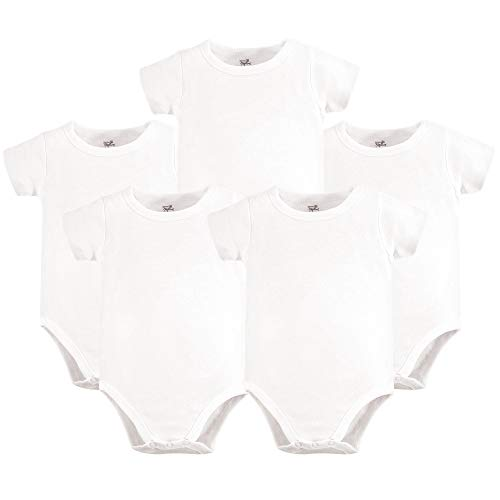 by Organic Cotton Bodysuits, White Short Sleeve 5 Pack, 18-24 Months (24M) ()