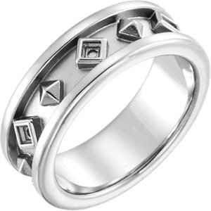 Jambs Jewelry 14K White Etruscan-Style Ring Mounting Size 6 ()