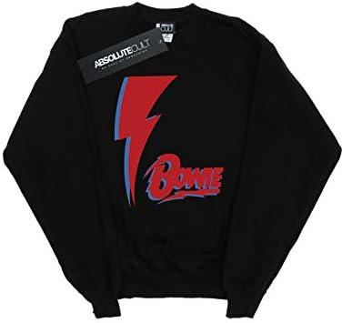 Absolute Cult David Bowie Damen Red Bolt Sweatshirt Schwarz XX-Large