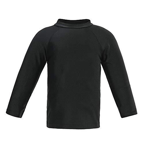 - Boys' Long Sleeve Rashguard Swimwear Rash Guard Athletic Tops Swim Shirt UPF 50+ Sun Protection, Black 2T