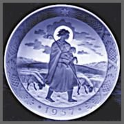 Amazon.com: 1957 Royal Copenhagen Christmas Plate - The Good ...