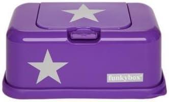 Funky Box FB12 Funkybox - Caja para toallitas húmedas, color morado con diseño estrella: Amazon.es: Bebé