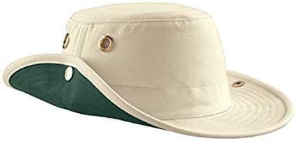 21a92f57 Image Unavailable. Image not available for. Color: Tilley Endurables T3  Traditional Canvas Hat,Natural/Green ...