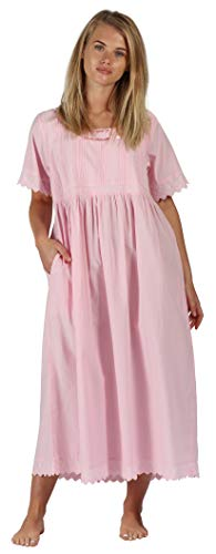 (The 1 for U Nightgown 100% Cotton + Pockets XS-3XL Helena (Small, Pink) )