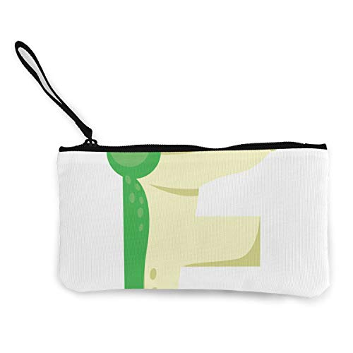 Coin Purse Letter F for Frog Womens Fastener Canvas, used for sale  Delivered anywhere in USA