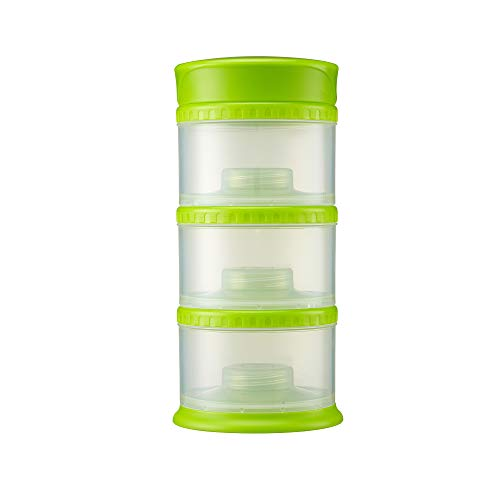 Innobaby Packin' Smart Stackable and Portable Storage System for Formula, Liquid, Baby Snacks and More. 3 Stackable Cups in Lime. BPA ()