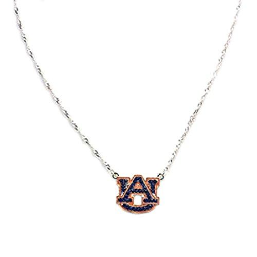Auburn Tigers Crystal Logo Necklace