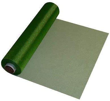 Trimming Shop 29cm X 26m Transparente Rollo de Organza Verde ...