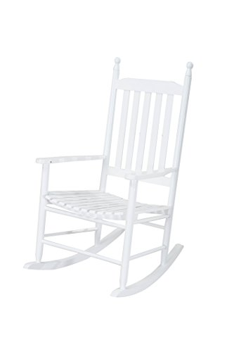 Sunjoy Safavieh Shasta White Wood Rocking Chair