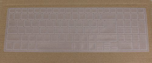 Saco Keyboard Protector Silicone Skin Cover for ACER E5 573 30KU Notebook 15.6 inch Laptop   Transparent