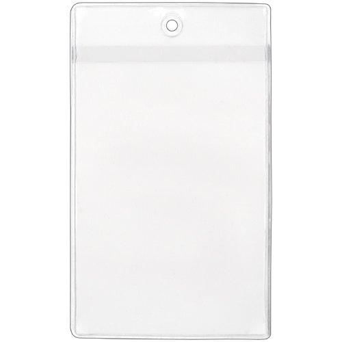 StoreSMART Plastic Job Ticket Holders - 50 pack - 3'' x 4 3/4'' - Open Short Side (HPE106S50) by StoreSMART® (Image #1)