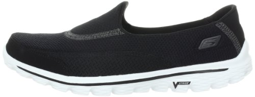 Skechers Performance Women's Go Walk 2 Slip-On Walking Shoe,Black White,9 M US