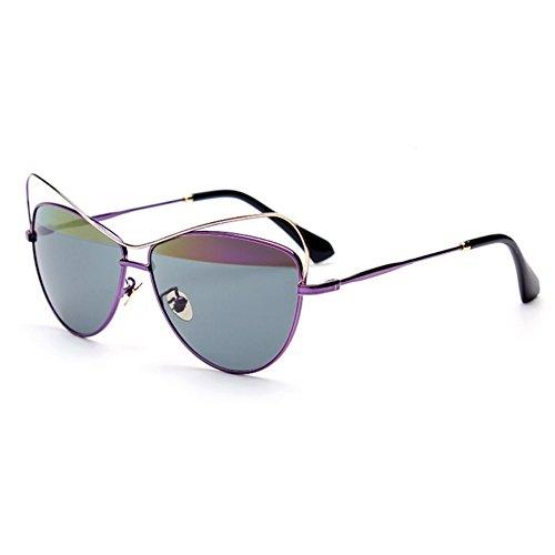 LENSTAR DSG800039C6 2016 PC Lens Metal Sunglasses,Metal Frames Non-Polarizer
