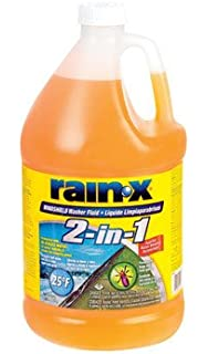 Rain-x 113645 De-icer & Bug Remover Windshield Washer Fluid, 1 Gallon