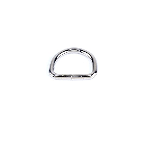1-1/8-inch Nickel Plated Steel D-ring for Straps, Purses, Belts, - Cary Store The