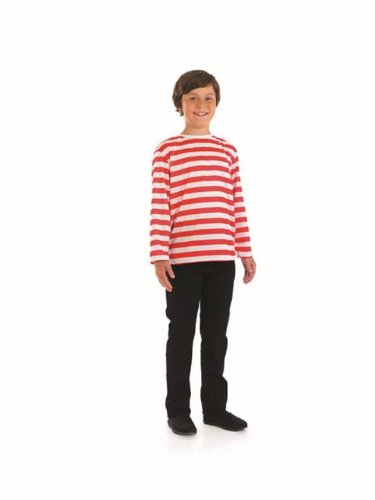 Red & White Pirate Wally Childs Fancy Dress Costume - S 112cms