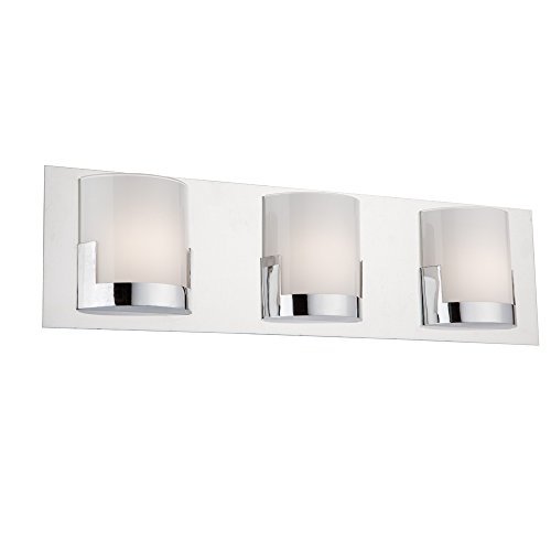 (Artcraft Lighting Artcraft AC7223CH Rialto 3-Light Vanity, Chrome,)