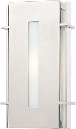 (Minka Lavery Modern Outdoor Wall Light 72121-144-PL Colva Exterior Pocket Sconce Lantern, 13w Fluorescent, Steel)