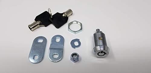 Tubular Cam Lock with Chrome Finish, Keyed Alike Removable Key (1'', Pack of 25) by Products Quad (Image #6)