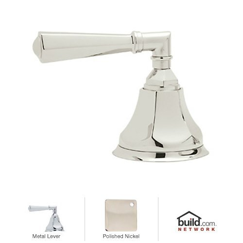 Rohl A1917LM Palladian Deck Mounted 3-Port 2-Direction Diverter with Metal Lever, Polished Nickel by Rohl