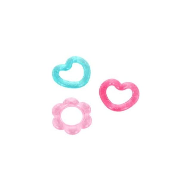 Toy / Game Bright Starts Chill and Teether, Pretty in Pink   Water filled Teethers Soothe Babys Gums (Set of 3)