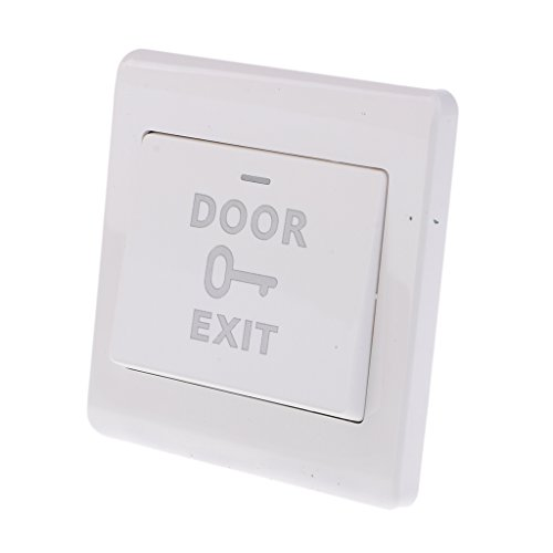 MagiDeal Interruptor de Botón de Puerta de 12v de Puerta Duradera de Botón de Salida de Empuje de Puerta