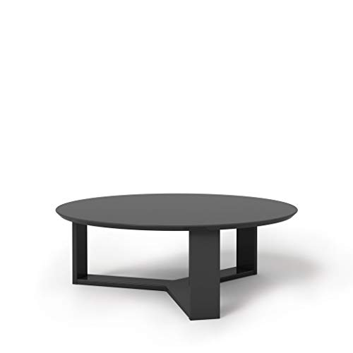 (Manhattan Comforts 85052-MC Madison 1.0 Accent Side Coffee Table, Black Gloss )