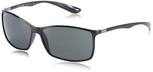 Ray-Ban Liteforce Rectangular Sunglasses, Black, 62 - New Ban Ray Design