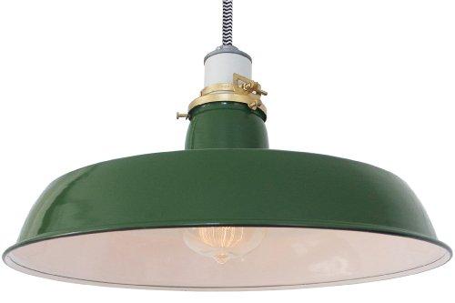 Vintage Industrial Enamel Pendant Lights in US - 2