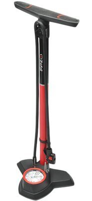 Zefal Alloy Profile 180 PSI Floor Bicycle Pump (Red/Black) by Zefal