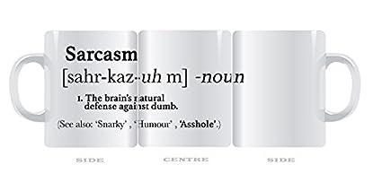 Taza divertida Urban diccionario sarcasmo sarcástica definición 11 oz taza