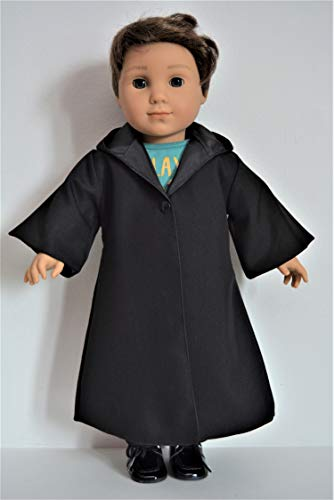 (Handmade Star Wars Jedi Anakin Skywalker Black Costume Cloak Robe fit 18