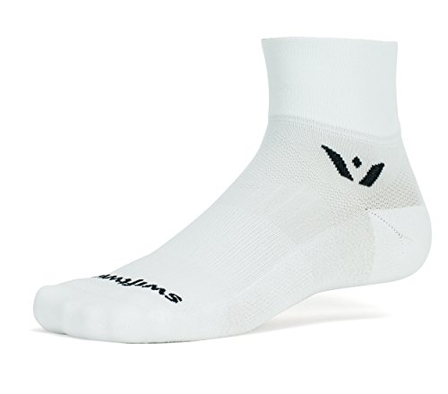 Swiftwick - Performance TWO, Quarter-Crew Socks for Cycling and Golf