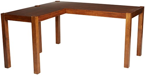 Ashley Furniture Signature Design - Lobink L-Shaped Home Office Desk - Contemporary - Brown Finish